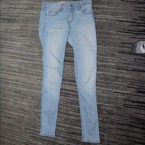 light wash, skinny jeans